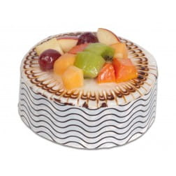 Fruit truffle cake