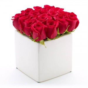 Box full of Red roses
