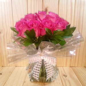 Pink Roses (12 no's) bouquet