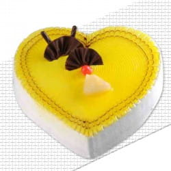 Heart shape Pineapple cake
