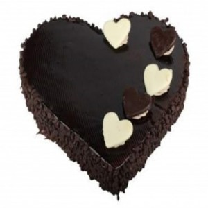Heart shape choco chips  cake